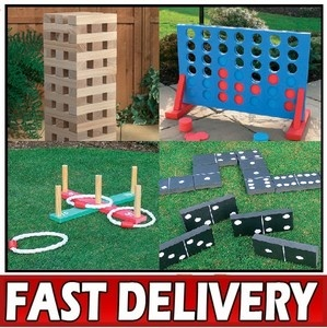 Set-Of-Four-Giant-Pub-Garden-Party-Games-Jenga-Quoits-Dominoes-Connect-Four-4