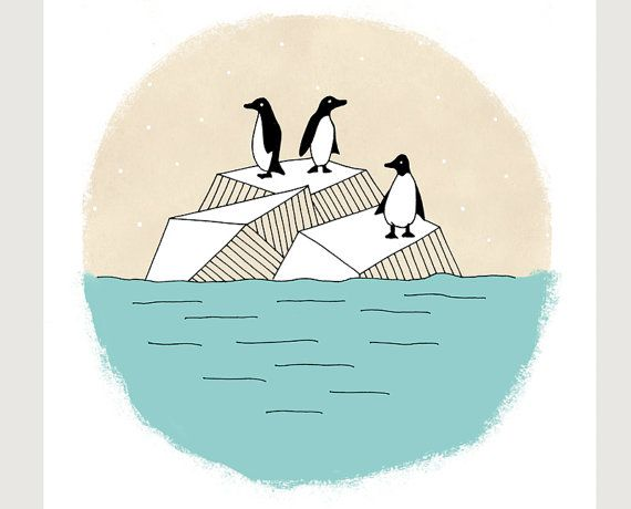penguins illustration  @Hannah Brekke