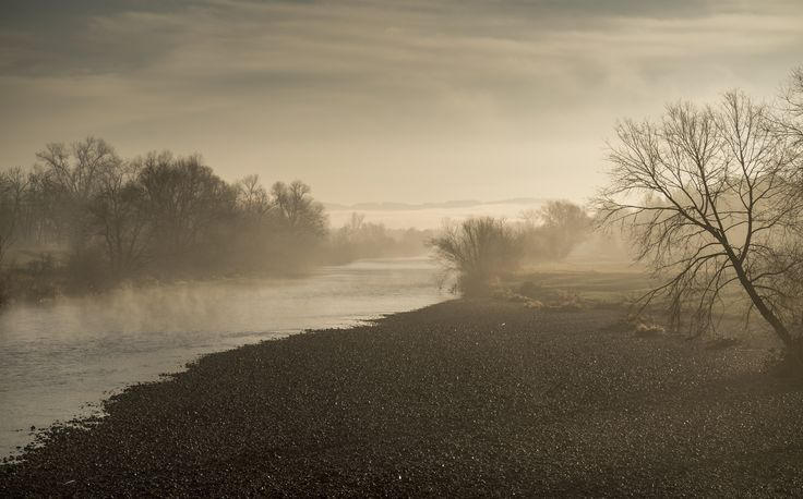 """The River's Surprise"" - A White Wave Over the Water. Foggy morning goodness and calm, #toldwithexposure by Ivo Scholz."