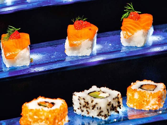 Sushi Buffet Display
