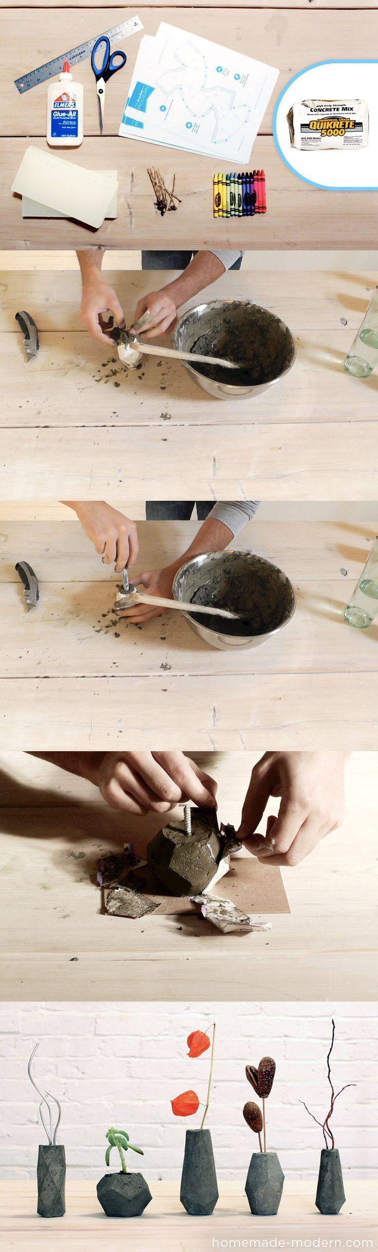 Bloktagons, unos originales moldes para crear velas y floreros