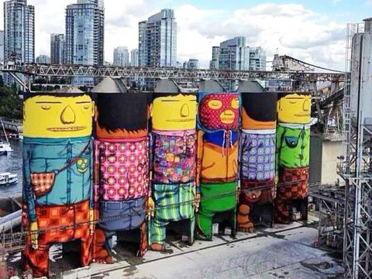 Ugly old silos turned into a massive open air street art exhibition in Vancouver! http://bit.ly/1rwO6ft