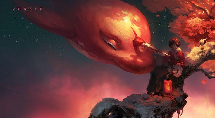 "ArtStation - Animated film ""Big Fish & Begonia"", chengsen feng"