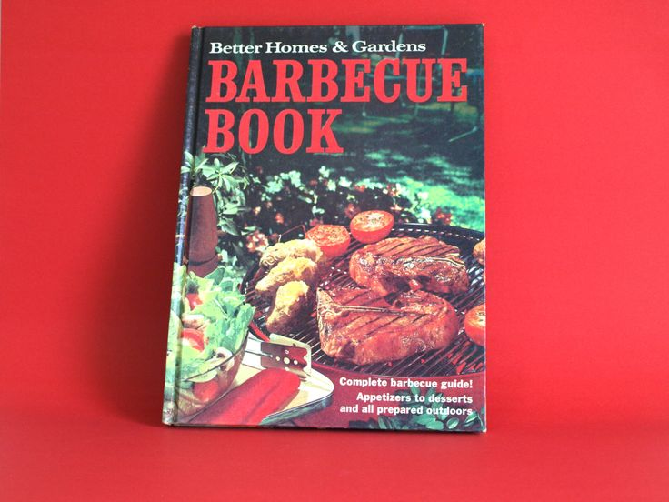 Better Homes & Gardens Barbecue Hardcover Cookbook - 1969 Kitsch Cook Books Meredith Press - Mid Century Recipes Outdoors Drinks by FunkyKoala on Etsy