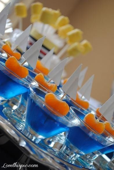 Sail Boat Jello Cups party ideas party favors parties kids parties kids birthday party decorations party snacks