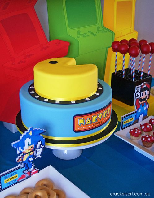 "Photo 4 of 35: Arcade Games / Birthday ""Arcade Themed 6th Birthday Party"" 