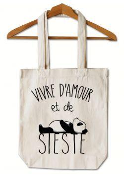 "Tote Bag ""Amour et Sieste"""