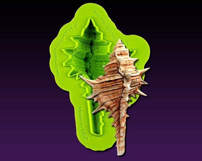 The Venus Comb Shell Mold creates a spiky seashell decoration to create ocean and beach theme cakes.         Marvelous Molds
