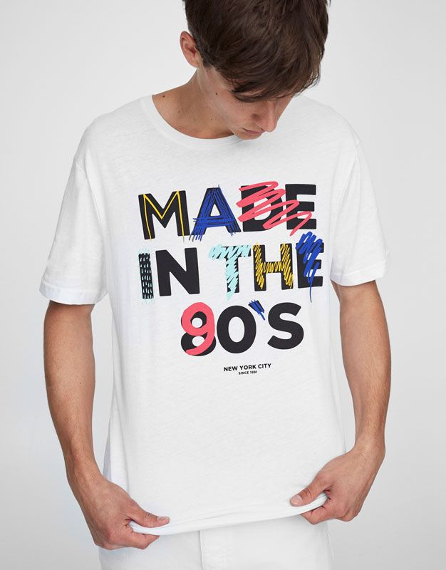 :Camiseta print texto 90s
