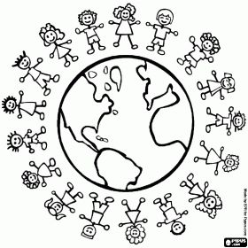 children of the world coloring pages free - Google Search