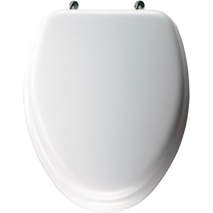 bemis elongated closed front white toilet seat in h x 14 in w x