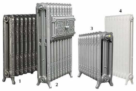 Les radiateurs en fonte décorés