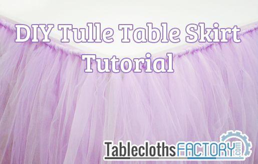 Tulle table skirt tutorial