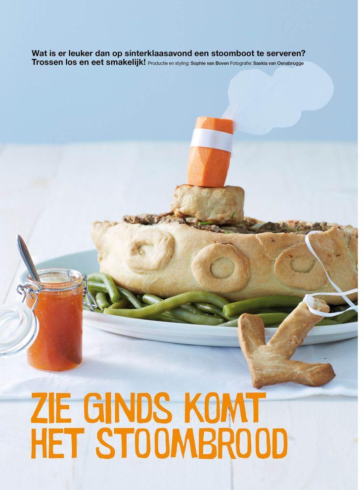 Leuk voor Pakjesavond: Gehakt-brood-boot  voor Sinterklaasavond~