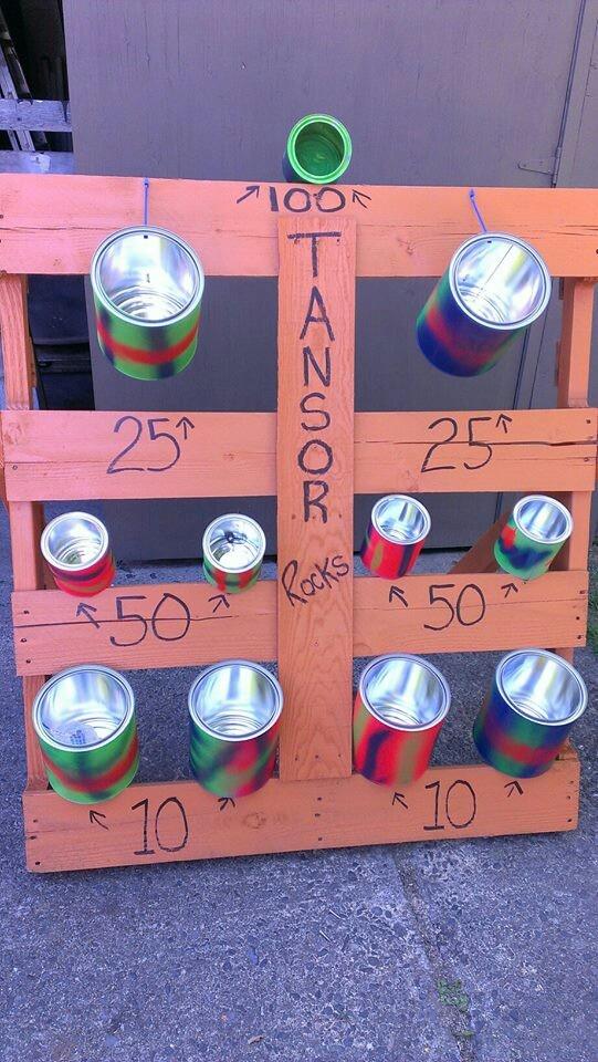 Creative pallet children's activity.