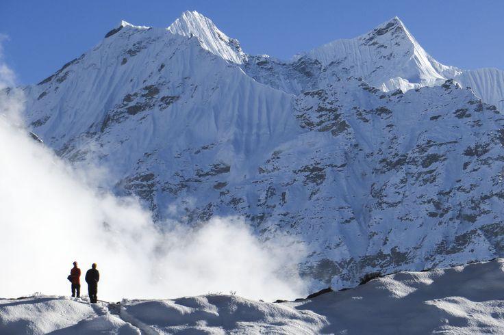 Alrededores de Lhonak (4780 m) donde están las últimas cabañas de pastores antes de llegar al campo base norte del Kanchen.