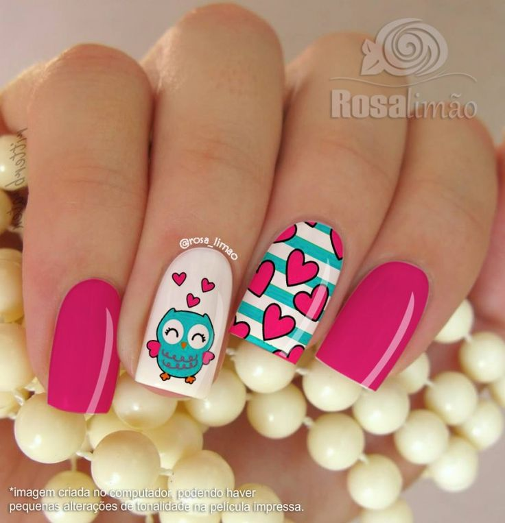 Owl nail art on pinterest 100 inspiring ideas to - Como pintarse las unas originales ...