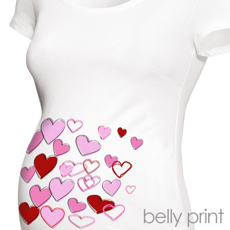 Valentineu0027s Day Maternity Shirt Fun Scribble Hearts Custom Womens Non  Maternity Or Maternity Tshirt Belly Print