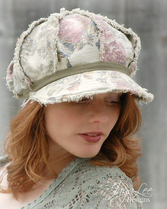 Shabby Rose Newsboy Hat by GreenTrunkDesigns on Etsy