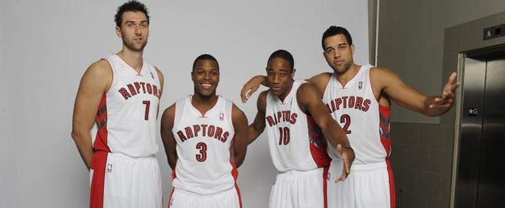 Group shot from Raptors Media Day.