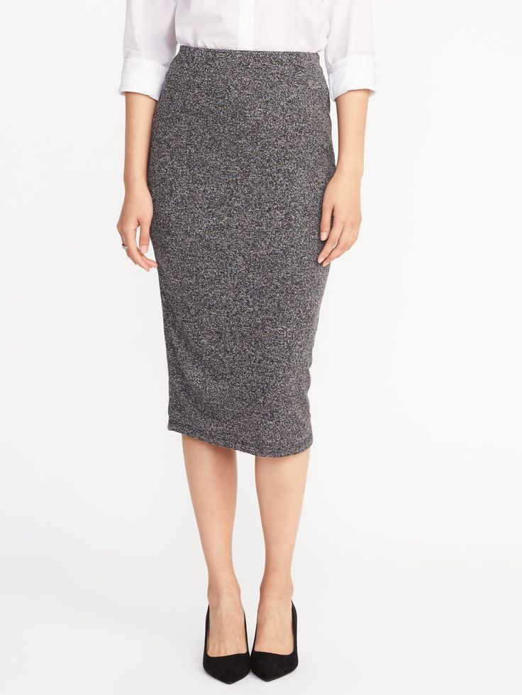 Jersey-Knit Midi Pencil Skirt for Women |old-navy