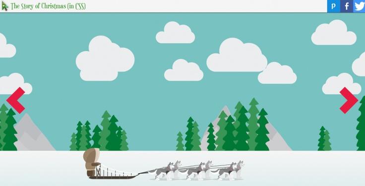 Die #Weihnachtsgeschichte in #CSS - schöne Sache @t3n Magazin