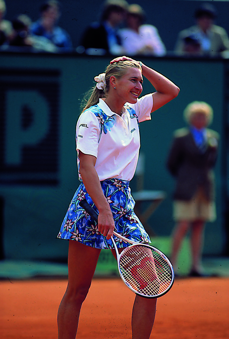 Steffi Graf, always a lady. Loved to watch her play. Hope I can learn from her example.