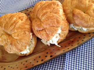 chicken salad sandwiches from the Food Nanny: Food Sandwiches Burg, Food Nanny, Chicken Salads, Croissants Sandwiches, Chicken Salad Sandwiches Jpg, Chicken Salad Croissants, Croissant Sandwich, Sandwiches Recipe For A Crowd, Sandwiches For A Crowd