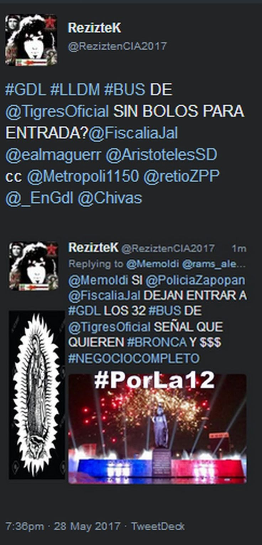 REZIZTEK: #GDL #LLDM @AristotelesSD @EPN ccp @Metropoli1150 @_EnGdl @Chivas @TigresOficial #AKICHIVAS