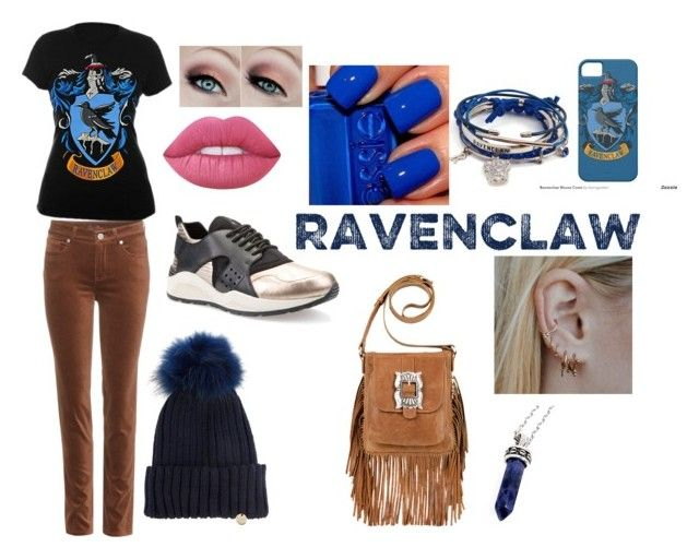 """Ravenclaw Harry Potter fan"" by valerie-solangelo on Polyvore featuring Loro Piana, Geox, Yves Salomon, Lime Crime, American West and Bellini"
