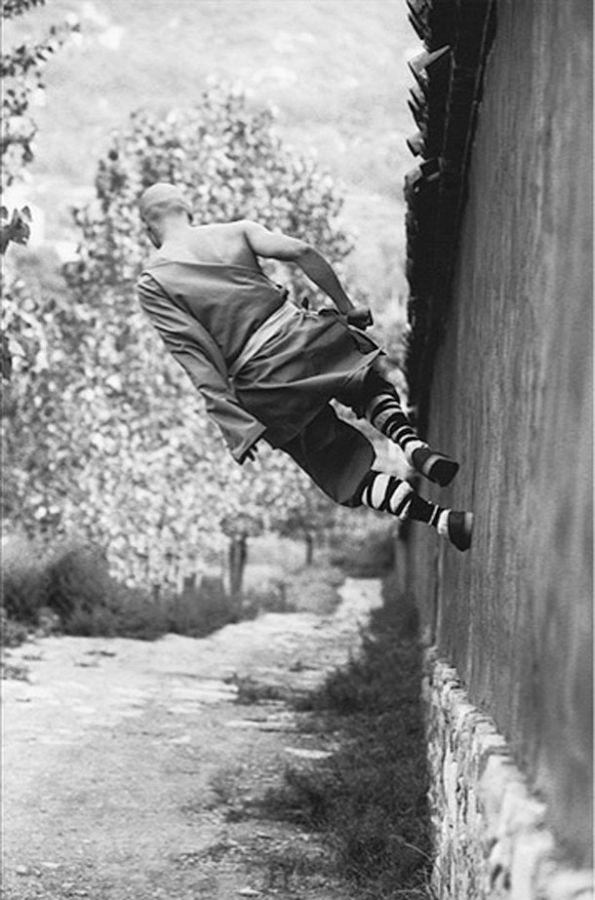 ♂ Chinese martial art Shaolin Kungfu black & white photo