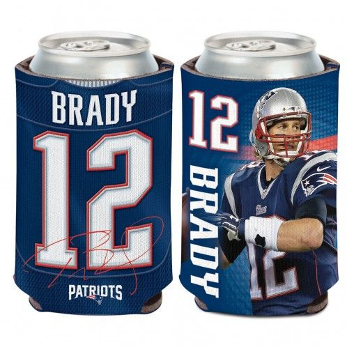 Make a Toast to Tom Brady and the New England Patriots with this Tom Brady collapsible 12 oz can and Bottle cooler . The Tom Brady printed graphics will make you stand out from everyone's drink around