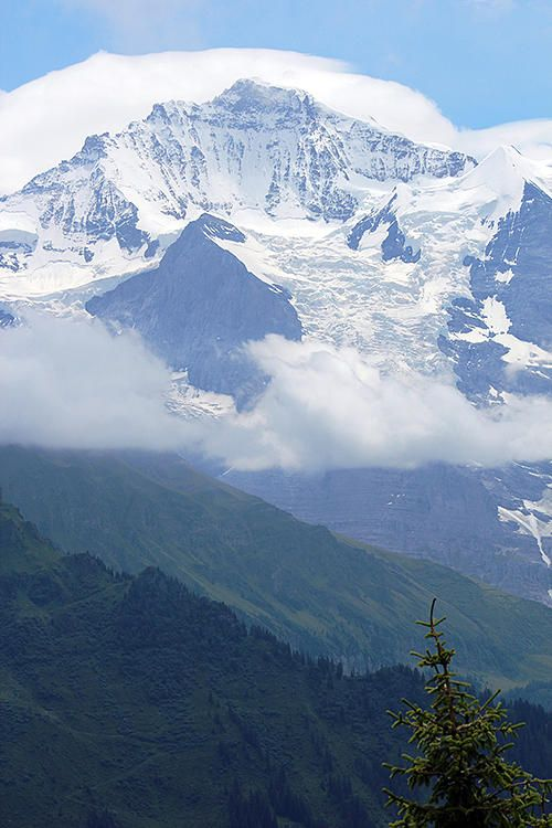 ✯ The Jungfrau, Switzerland - is the third-highest mountain of the Bernese Alps 4,158 m (13,642 ft)