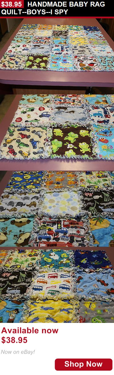 Quilts And Coverlets: Handmade Baby Rag Quilt--Boys--I Spy BUY IT NOW ONLY: $38.95