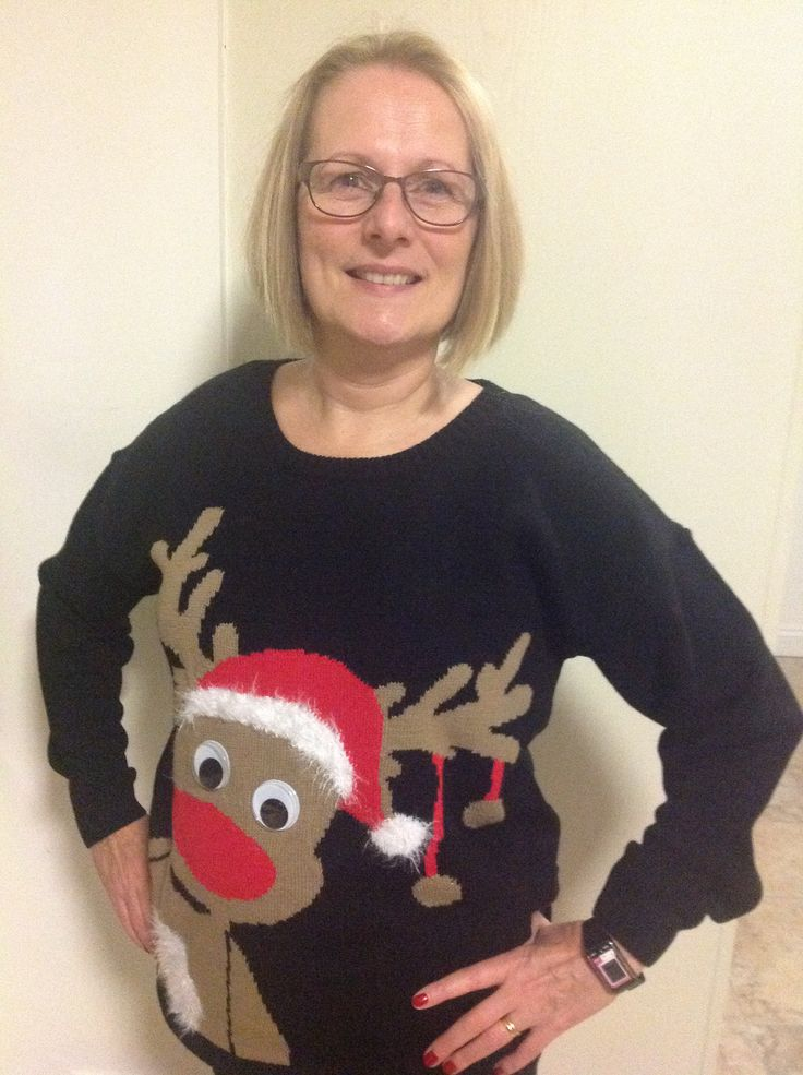 December 13. Started this am with jumper display. Later on M turned up with his (reindeer threesome). Carpet people were without such jumpers! Film night then with Quartet, preparing for the opera tomorrow. S had to wait around, then had operation cancelled!