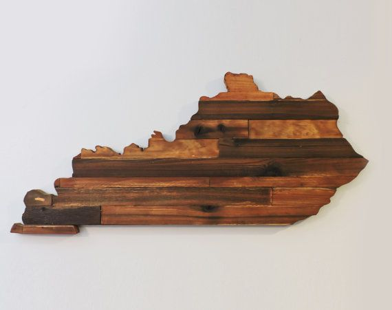 Kentucky Rustic Wood State Cut Out, Wooden Kentucky State Outline,Rustic Kentucky,Large Kentucky,Kentucky Sign, Kentucky Art, Kentucky Decor