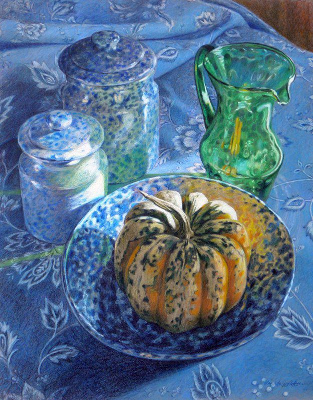 """Mottled"" by Elizabeth Patterson, colored pencil on #Pastelbord"