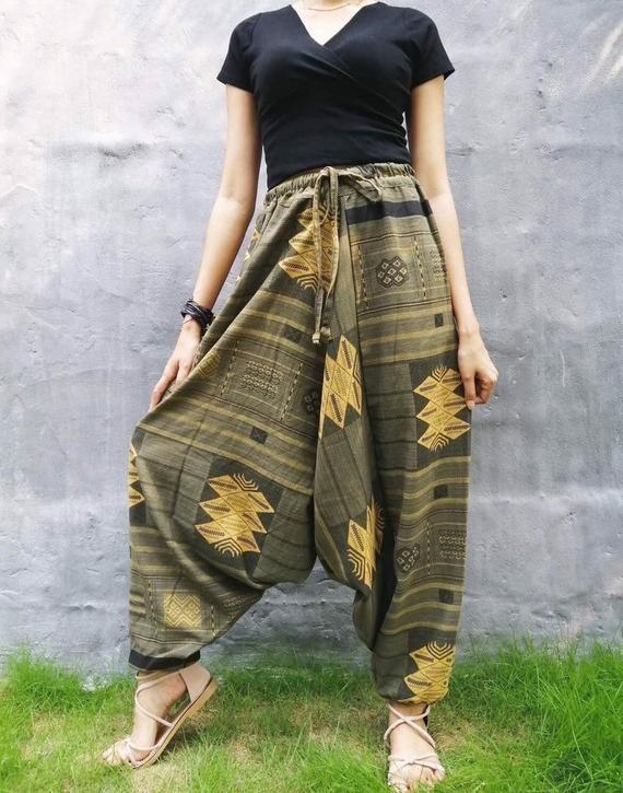 Hippie Pants Harem Pants Yoga Pants Womens Yoga Clothing Boho Pants Hippie Clothing Harem Pants Women Boho Clothing Festival Pants