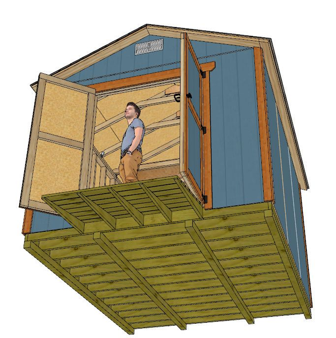 10x12 Gable Shed Plans Shed Plans Shed Studio Shed