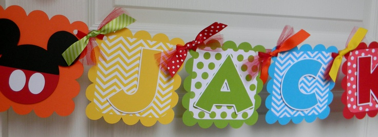 Mickey Mouse Clubhouse Birthday Party - Name Banner.