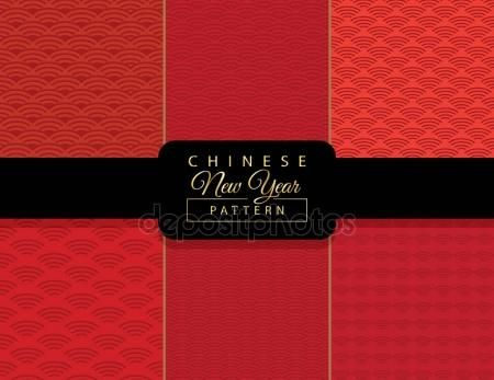 Download - Chinese Happy New Year greeting cards decoration, traditional ornamental seamless pattern, gold and red color background with floral geometric ornament, gold  luxury frame on red background. Luxury Christmas decoration. Spring, Winter Holiday vector — Stock Illustration #172852856