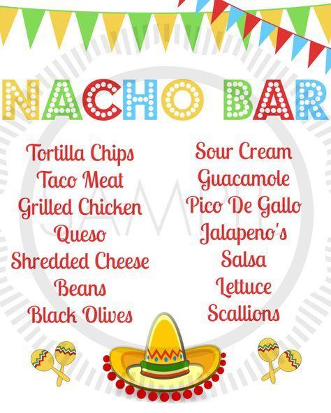 Classroom Potluck Ideas ~ Nacho bar potluck sign up sheet