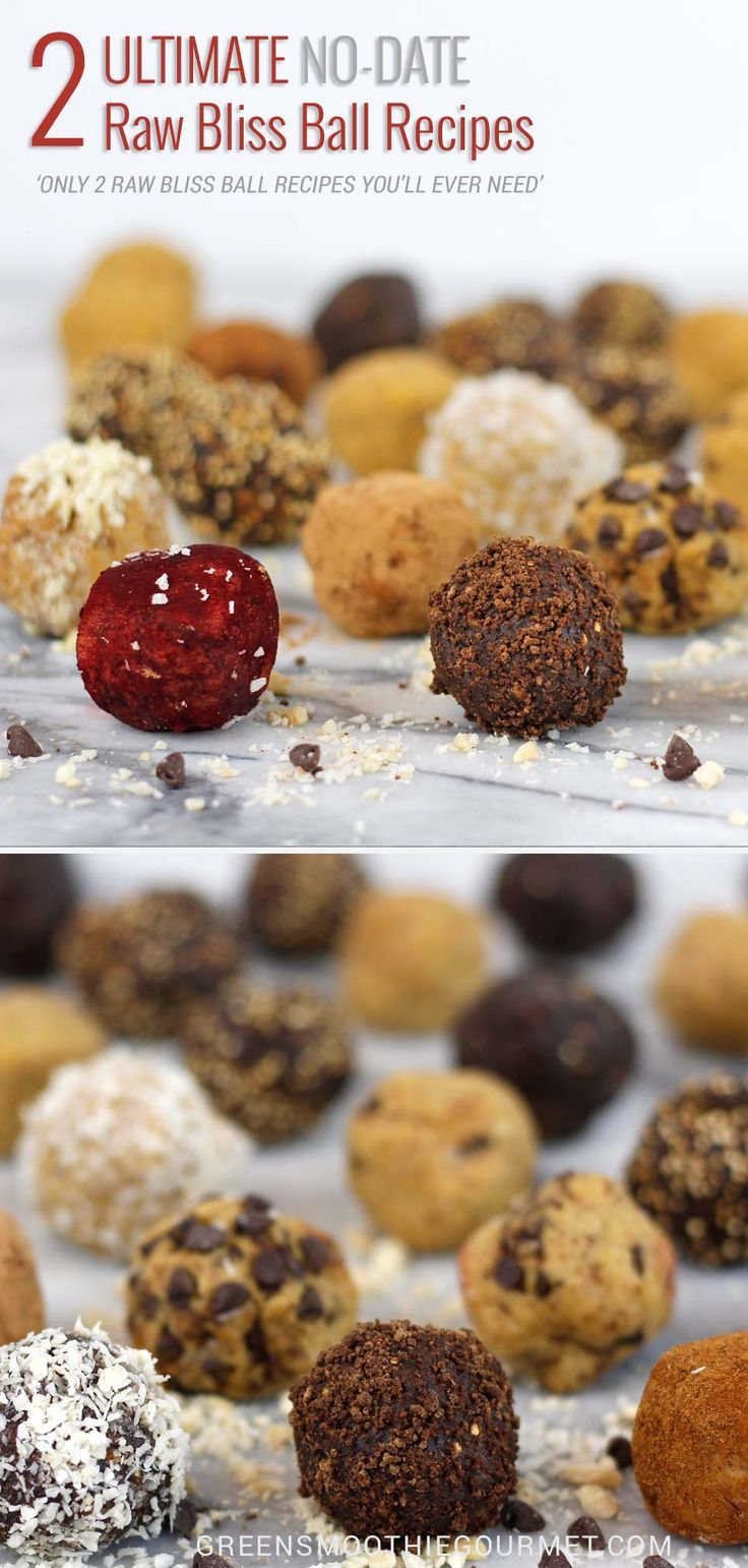 2 Ultimate Raw Bliss Ball Recipes {No-Date} -  The only two bliss ball or snack ball recipes you will ever need.