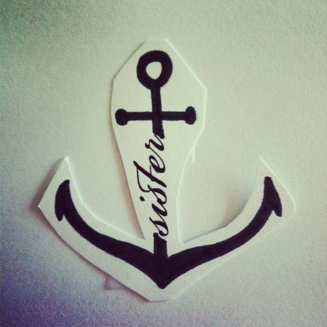 Sister Anchor Tattoos Anchor tattoo w/ my sister ❤