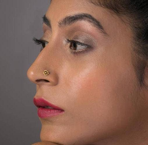 Nose Stud Indian Nose Stud Hex Earring Tragus Earring Nose Etsy