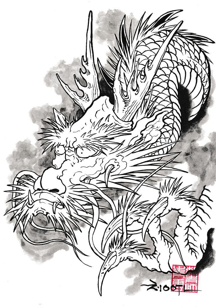 DRAWINGS | ChungWoon ART | TATTOO & ART #tattoo #irezumi #oriental #dragon…