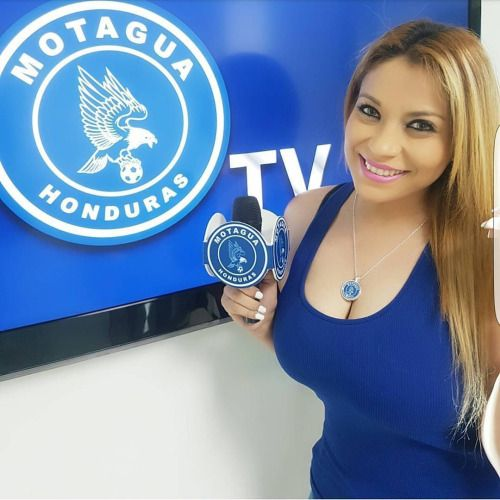 Gaby Hernández Presentadora de Motagua TV. HonduTV