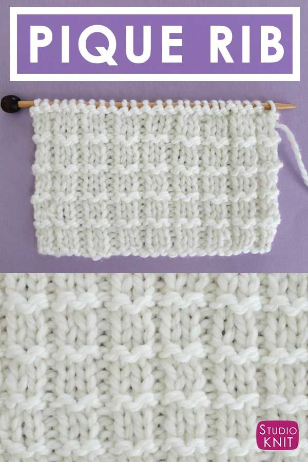 How To Knit The Pique Rib Knit Stitch Pattern By Studio Knit