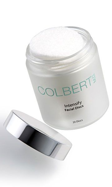 Intensify Facial Discs Intensify Facial Discs Plush, pre-moistened exfoliating discs encourage cell renewal and enhance the effectiveness of Colbert M.D.'s daily products How it Works With gentle microdermabrasion, Intensify Facial Discs assist in skin's natural repair process by removing dead cells and providing a fresh new luminosity.How to Use Apply to a clean, damp face in a gentle, circular motion,
