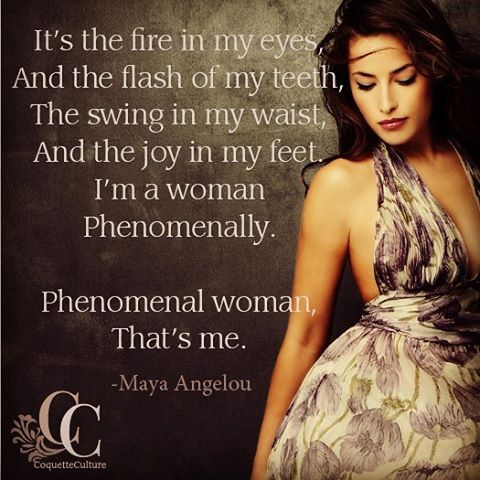 """Happy International Women's Day! This is part of my favorite poem, """"Phenomenal Woman"""" by the amazing Maya Angelou #internationalwomensday #instaquote #mayaangelou #celebrate #phenomenalwoman #coquetteculture #bestrong #confidence  #Regram via @coquetteculture"""